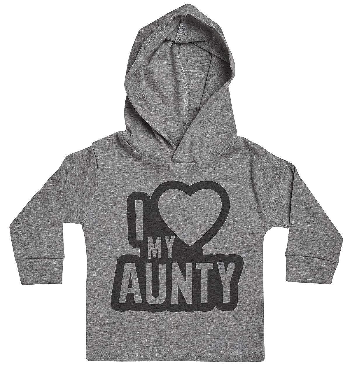 Baby Clothing Baby Hoody Baby Girl Hoody I Love My Aunty Black Outline Baby Boy Hoody Baby Gift