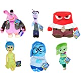 """Inside Out COMPLETE SET 6 Different PLUSHIES Characters 30cm ( 12"""" ) Emotions and Bing Bong - Original DISNEY"""
