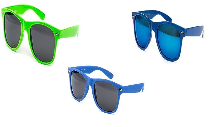 2 er Set Nerd Sonnenbrille Festival Partybrille Brille Sonnenbrillen Rot Schwarz Weiß Matt zet99ri