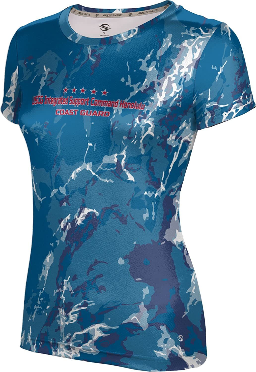 Girls' USCG Integrated Support Command Honolulu Military Marble Shirt (Apparel)