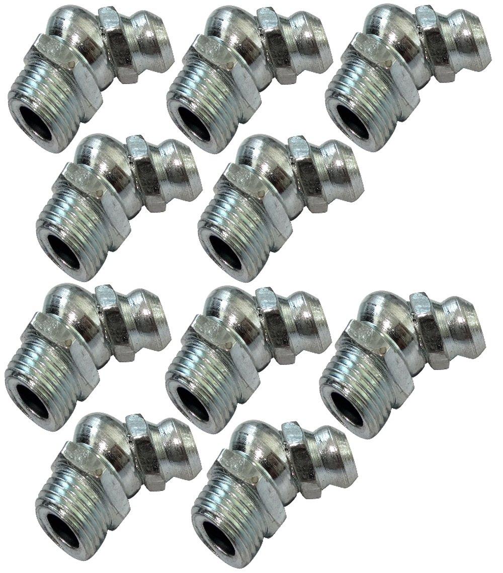 Aerzetix: 10x graisseurs M8 8mm 135° coudé C18621 C18621-AL610