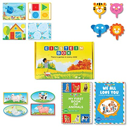 Box For 1 Year Old Baby Boys And Girls Learning Educational Gift Pack Of Toys Books Multicolour Online At Low Prices In India