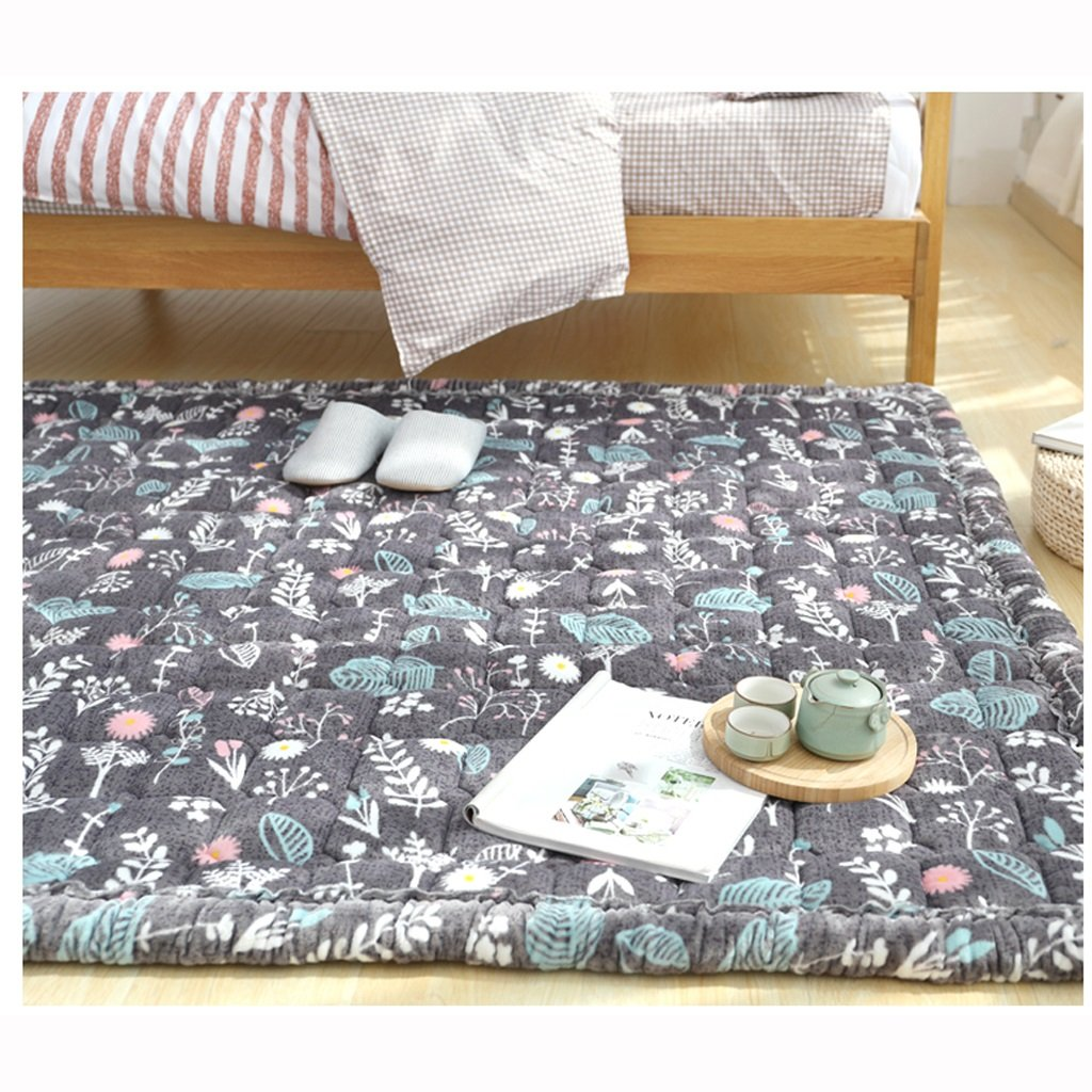 TangMengYun 家庭用ベッドルームベッドサイドラグリビングルームラージカーペット、洗えるノンスリップマット、牧歌的な厚いカーペット ( サイズ : 110*200CM ) 110*200CM  B07BMYF9CT