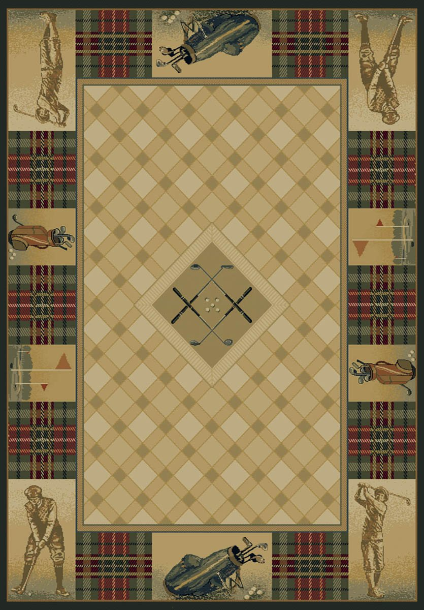 United Weavers Area Rugs Genesis 130-43517 Classic Open Natural Rug 5 3 x7 6 Rectangle