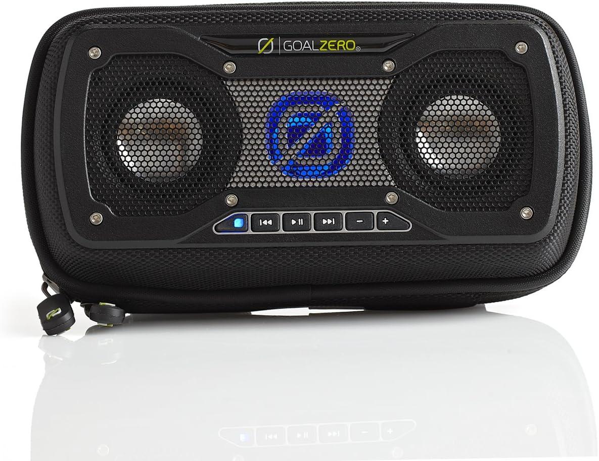Goal Zero Rock Out 2 Solar Rechargeable Speaker, Black