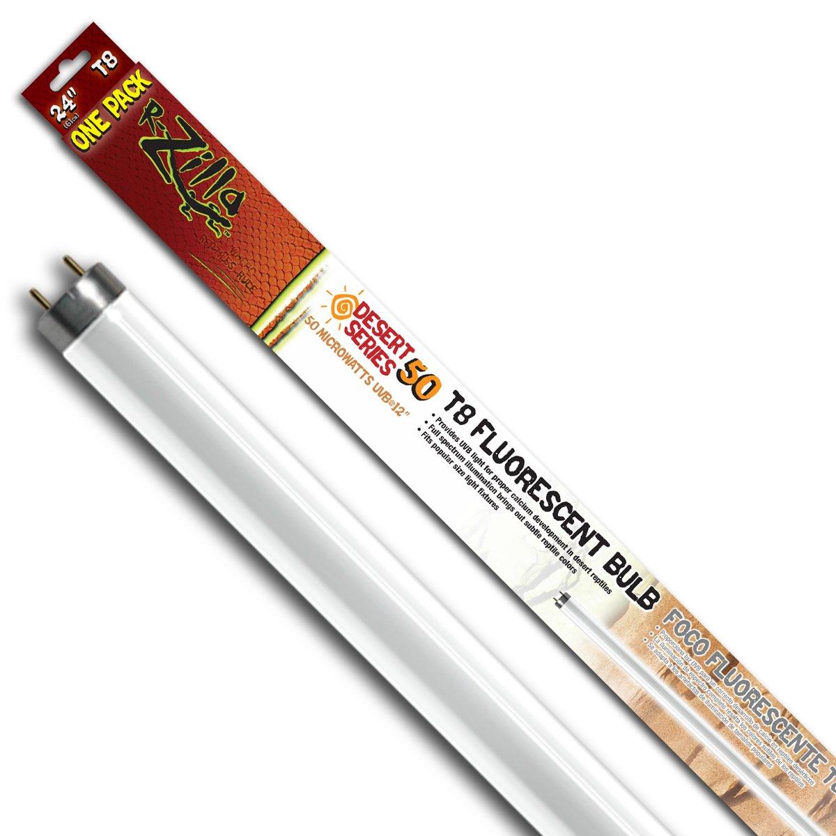 Amazon.com : Zilla 11943 24-Inch Desert 50 UVB T8 Fluorescent Bulb ...