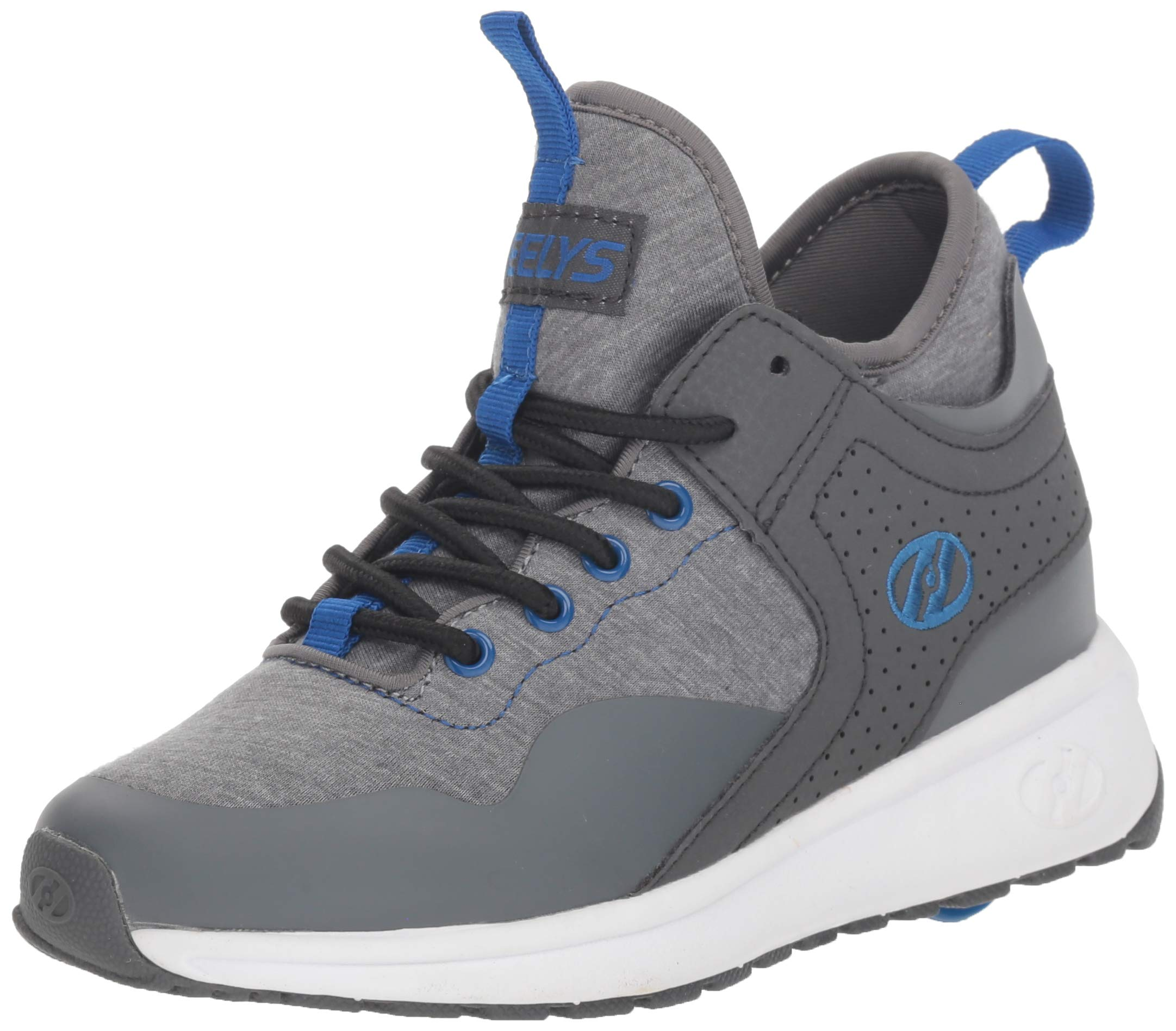 Heelys Boys' Piper Tennis Shoe Grey Heathered/Royal 6 M US Big Kid by Heelys (Image #1)