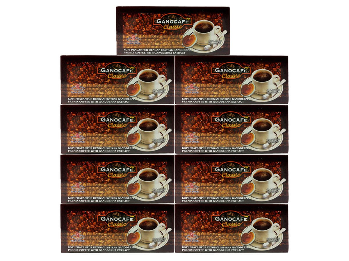 9x Gano Excel Ganocafe Black Coffee Classic No Sugar Healthy Instant Coffee + FREE Zrii Premix Rise Coffee + FREE Expedited Shipping by Gano Excel