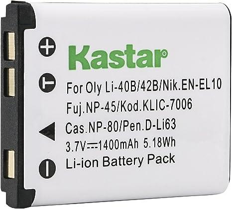 2X Batería Klic 7006 para Kodak Easyshare M5370 M5350 M873 M580 M575 M552
