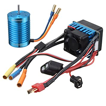 MYAMIA Rennsport 60A Esc Speed Controller F540-3000Kv Brushless Motor F/ür 1//10 1//12 Rc Auto