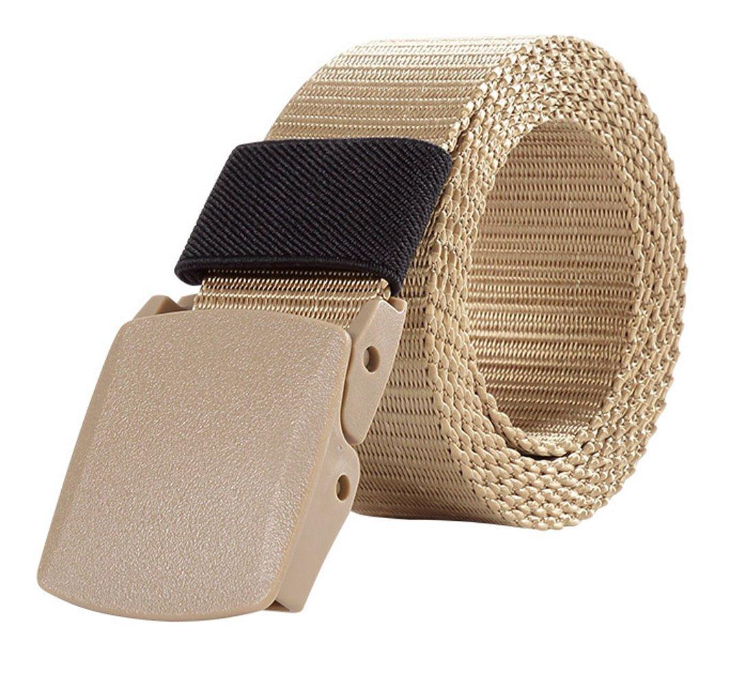 ITIEZY Men's Military Tactical Web Belt, Nylon Canvas Webbing Buckle Belt