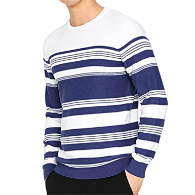 7cb0391a760 Robert Reyna Fashion Men Sweater Spring Autumn Striped Knitted Mens ...