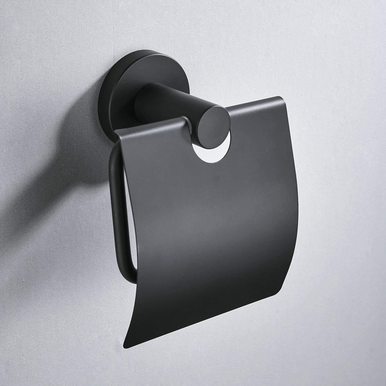 Beelee BA7811B Porte-Rouleau de Papier Toilette Mural en Acier Inoxydable SUS304 Noir