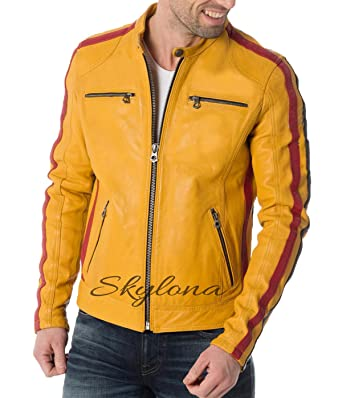 948ce6620 Mens Leather Jackets Motorcycle Bomber Biker Genuine Lambskin 251 at ...