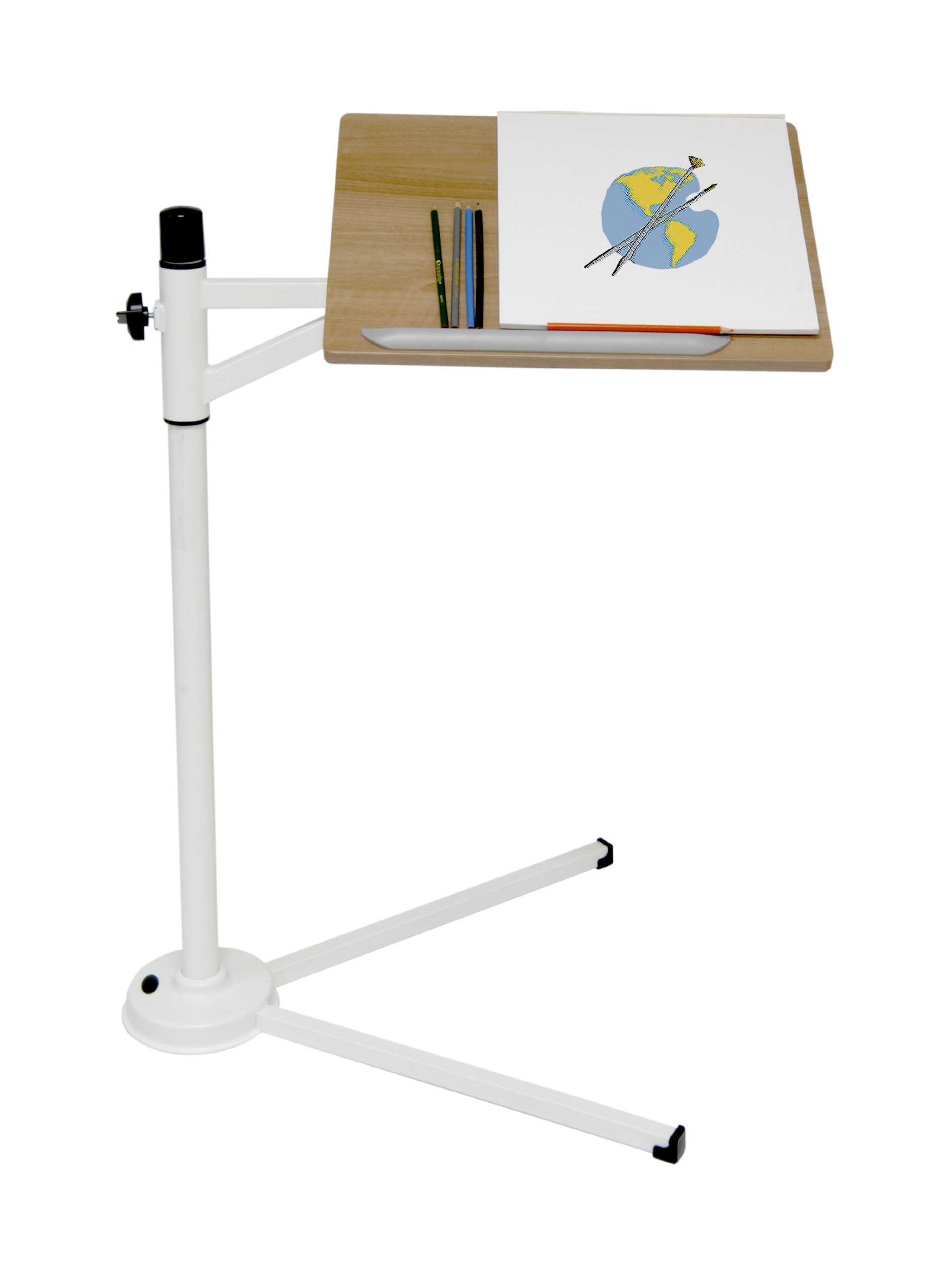 Calico Designs 51211 Calico Tech Stand with Maple Top, White