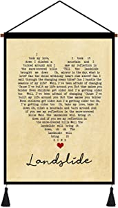 kasader Landslide Heart Unique Quote Song Lyric Retro Wall Art Gift Print Canvas Reel Home Decor 18x12in