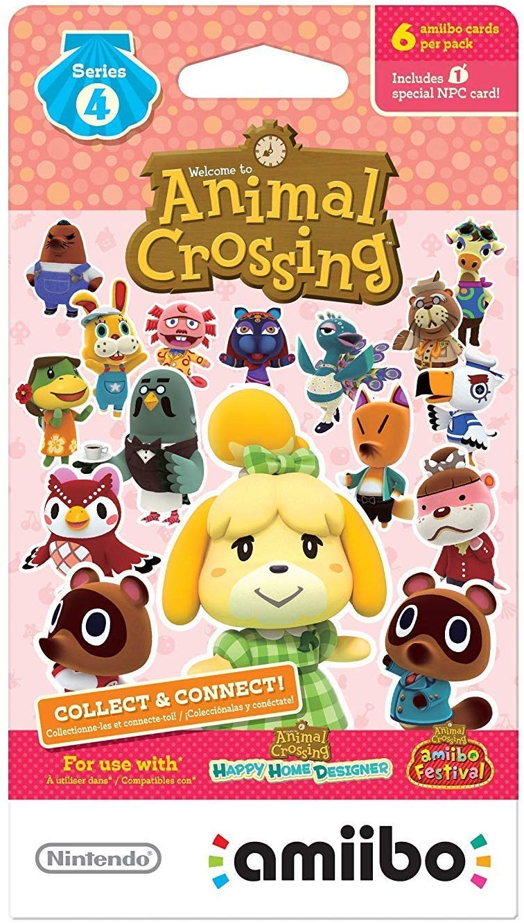 Nintendo Animal Crossing amiibo Cards Series 2, 3, 4 for Nintendo Wii U and 3DS, 1-Pack (6 Cards/Pack) (Bundle) Includes 18 Cards Total by Nintendo