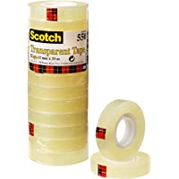 Scotch 550 - Cinta adhesiva, 12mm x 33m