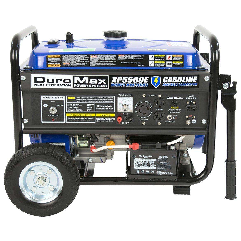 Amazon.com : DuroMax XP5500E Gas Powered Portable Generator : Garden &  Outdoor