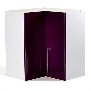 vita meuble de cuisine d'angle haut 60cm violet - alinea 60.0x70 ... - Meuble Haut D Angle Cuisine