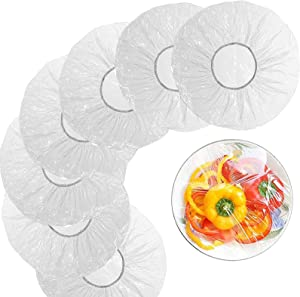 Uhada Food Plastic Wrap, 100pcs Elastic Reusable Bowl Dish Plate Cover for Food Storage Container
