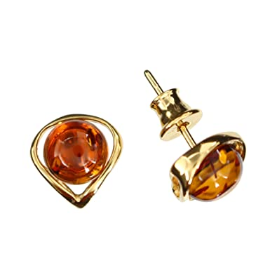 Artisana Natural Amber Drop Earrings FWeLHn