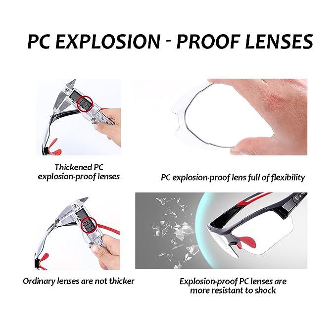 e648544337 Wheelup Sports Sunglasses WHEEL UP Photochromic Anti-UV401 Explosion-proof  PC Intelligence Lenses Aerodynamics MTB Bike Sunglasses Eyewear(RED)  ...