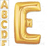 40 Inch Giant Jumbo Helium Foil Mylar Balloons for Party Decorations (Premium Quality), Matte Gold, Letter E