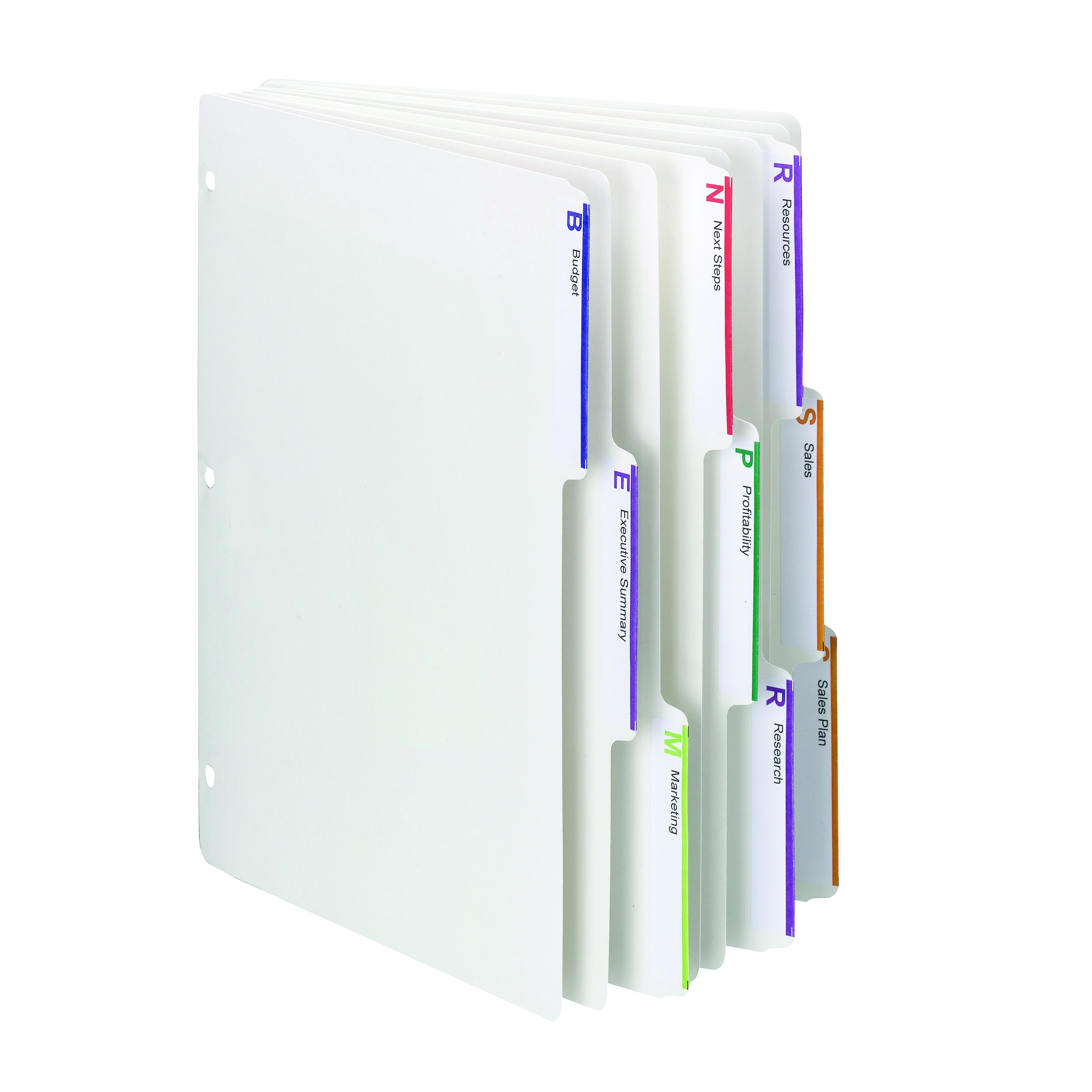 Smead Viewables Three-Ring Binder Index Dividers, 1/3-Cut Tab, Letter Size, White, 75 per Box (89413) by Smead (Image #1)
