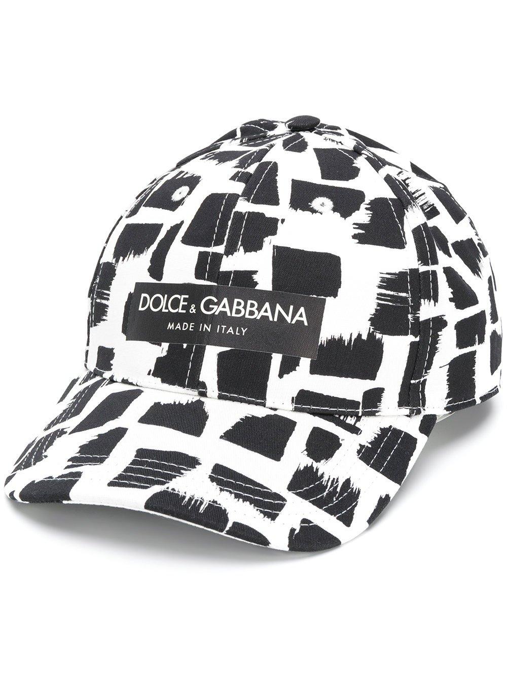 Dolce e Gabbana Men's Gh613afsffmhwh95 White/Black Cotton Hat