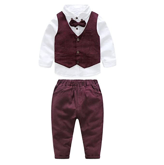 Amazon Com Jianlanptt 3pcs Baby Boy Gentleman Set Vest Shirt And