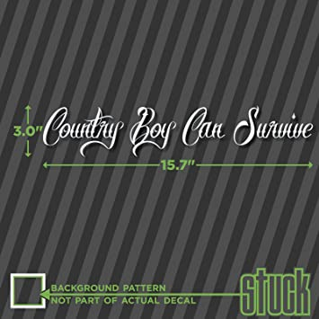 Amazoncom Country Boy Can Survive  X  Vinyl Decal - Country boy decals for trucks