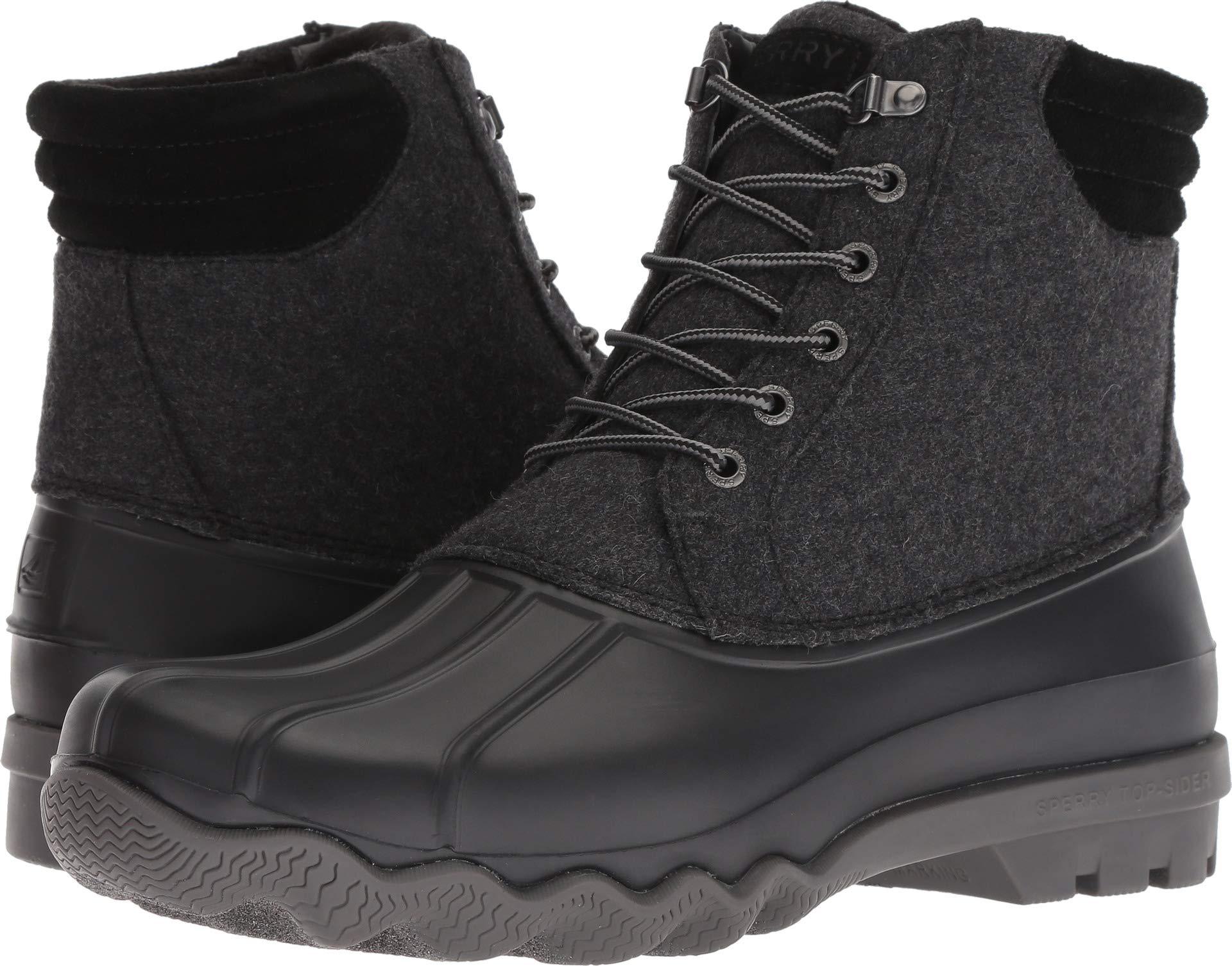 SPERRY Men's Avenue Duck Wool Rain Boot, Grey, 8.5 M US