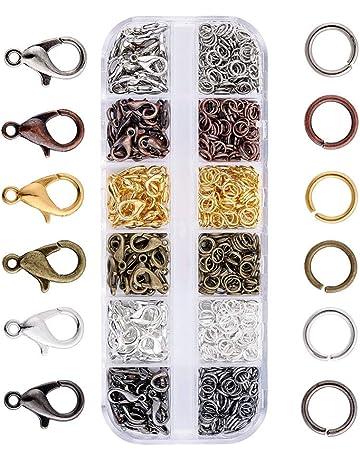 3216644d22 JZK 140 x Ganci Chiusure moschettone + 990 x anellini Aperti, Set Accessori  Kit per