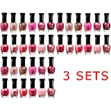 Awesome Pink Colors Assorted Nail Polish 12pc Set - 3 SETS