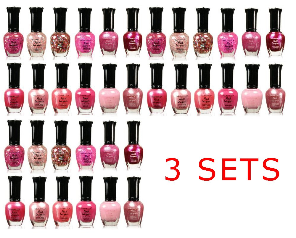 Amazon.com: Awesome Pink Colors Assorted Nail Polish 12pc
