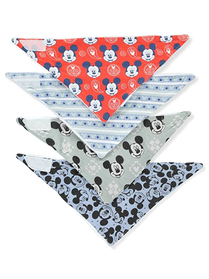 Mickey Mouse Baby Boys 4-Pack Bandana Bibs