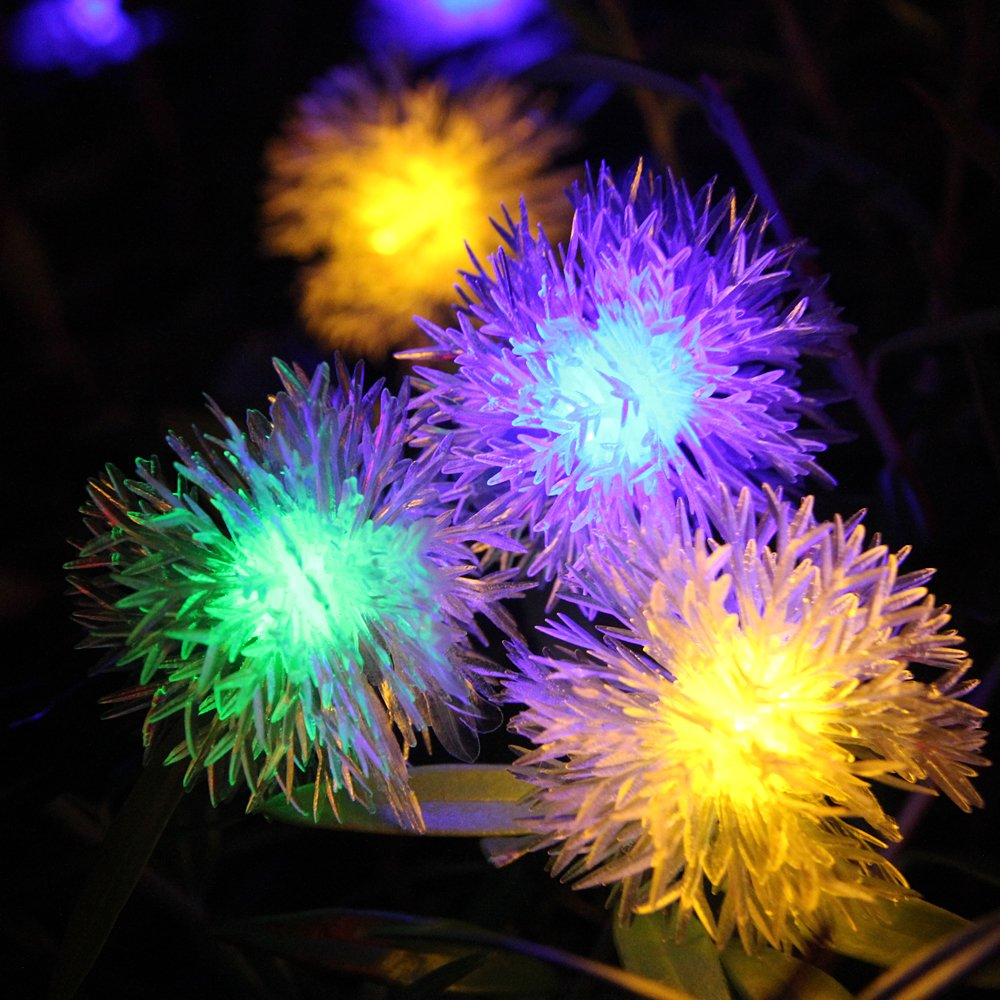Innoo tech 20 led string fairy lights solar powered for outdoor innoo tech 20 led string fairy lights solar powered for outdoor garden patio christmas partymulti colour chuzzle ball amazon lighting mozeypictures Image collections