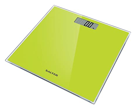 Salter Glass - Báscula de baño digital, 180 kg, color verde