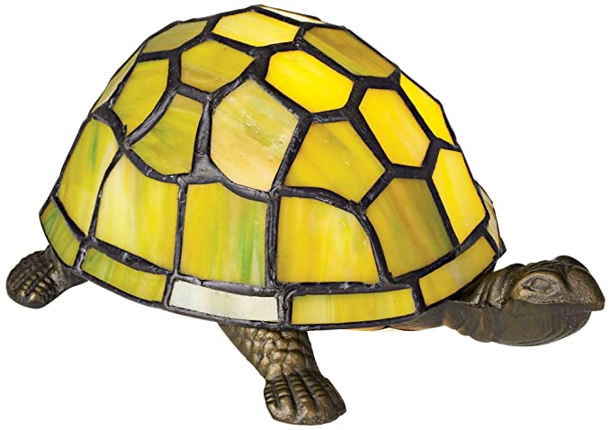 8734a826efb Image Unavailable. Image not available for. Color  Green Tortoise Tiffany  Style Accent Lamp
