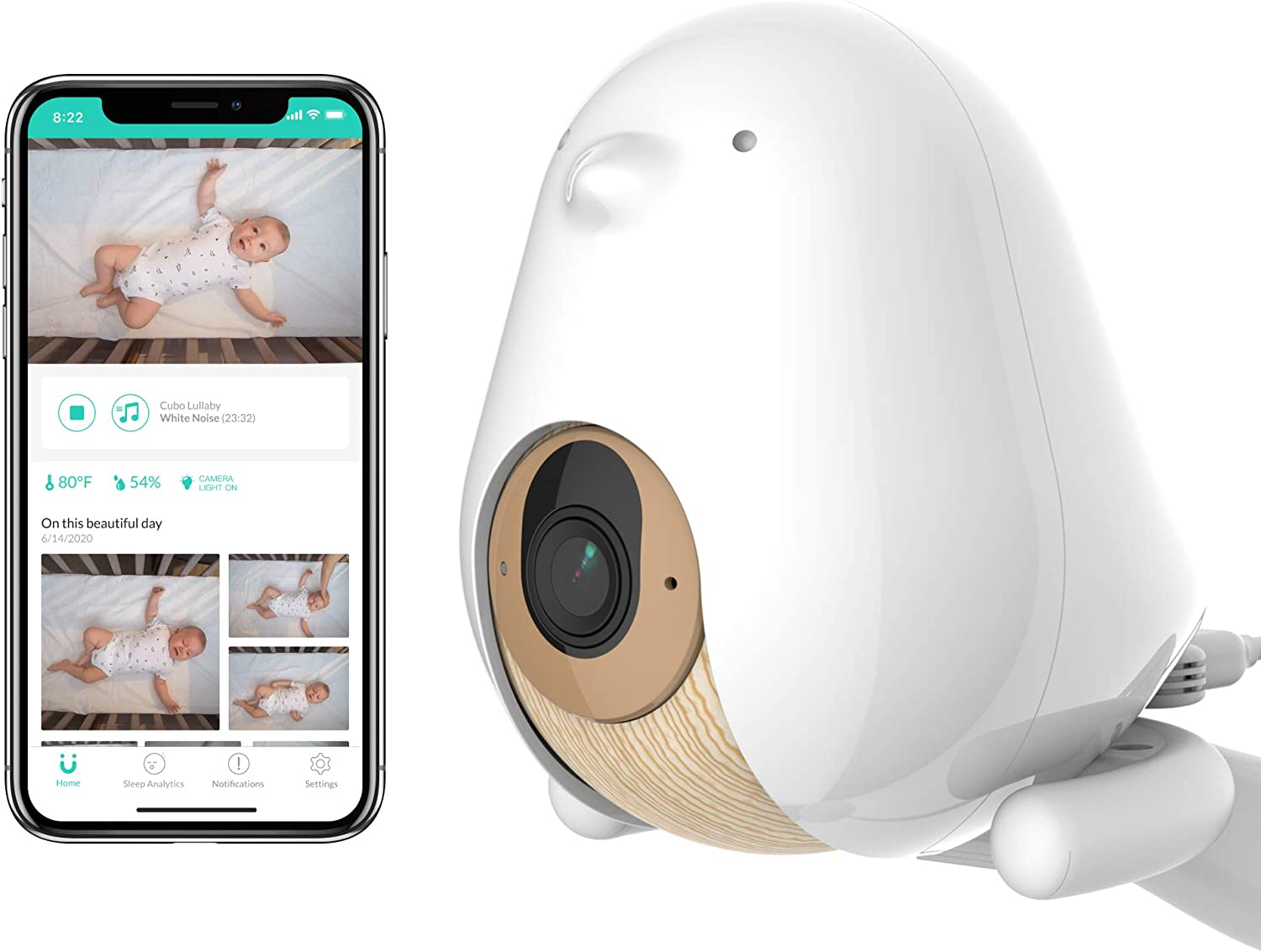 Cubo Ai Plus Smart Baby Monitor: Sleep Safety Alerts for Covered Face