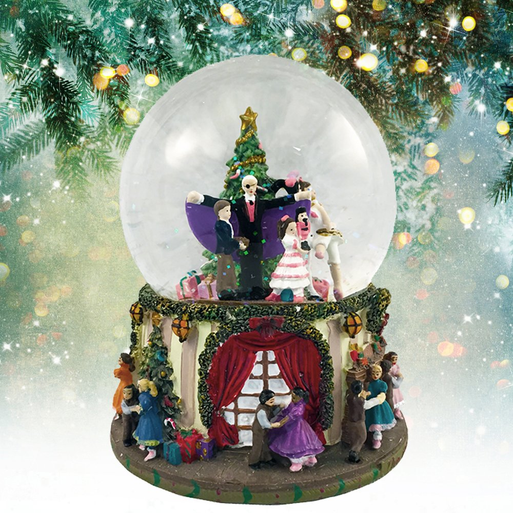 Party Scene Musical Snow Globe Plays''The Nutcracker Suite March'' by Tchaikovsky