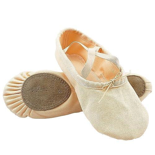 Dance Good Rosa Tela Scarpe per Balletto Danza Scarpette da Ballo Ballerine  per Bambini Donne Ragazze 85b31363fdb
