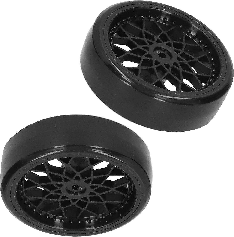 Neumático RC, RC Metal Plástico Neumático Eje de Rueda Mejoramiento de Piezas de Accesorios de Repuesto compatibles con el Modelo de Coche WPL D12 RC(Negro)