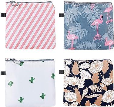 SUPVOX 4 bolsas con cremallera para periodo de viaje, para mujeres y niñas