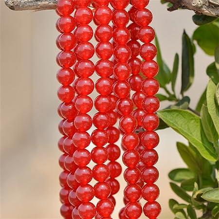 Red Jade Round Natural Gemstone Bead 46810mm 15/'/'L