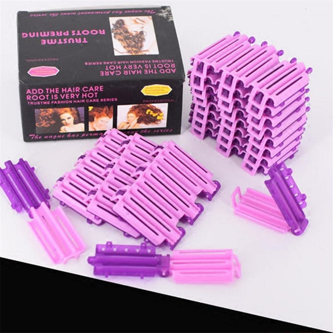 36Pcs/Bag Hair Clip Wave Perm Rod Bars DIY Roots Preming Fluffy ing Styling Tool show