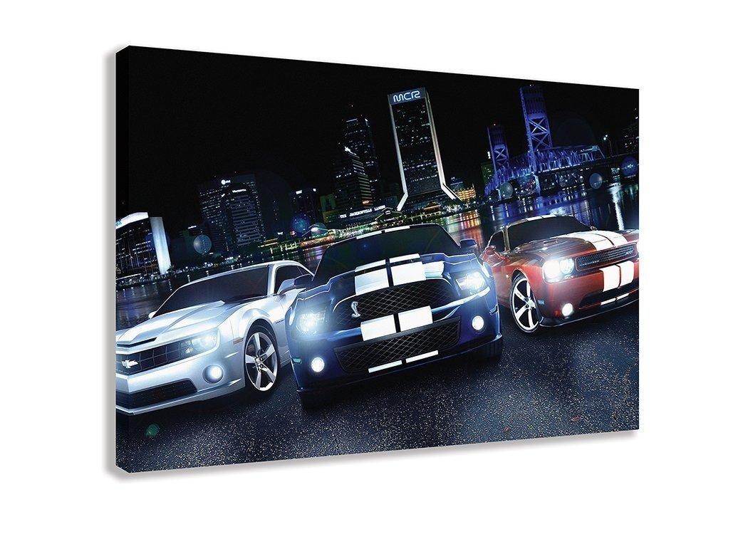 American Muscle cars Mustang Chevrolet Dodge Dodge Dodge Challenger auf Leinwand (111,8 x 66 cm 110 x 65 cm) B01MZA8IKR | Elegant und feierlich  9385d4