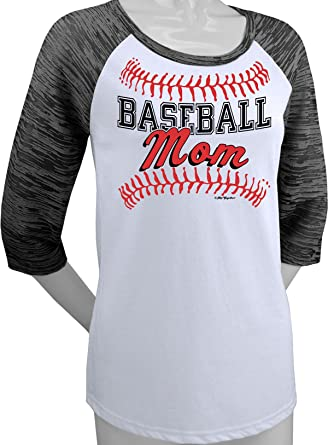 8516a504 Image Unavailable. Image not available for. Color: Hip Together Baseball Mom  Raglan (Small)