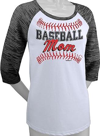765cdc68 Amazon.com: Hip Together Baseball Mom Raglan: Clothing